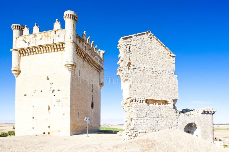 Kasteel van Belmonte DE Campos, Castilla en Leon, Spanje royalty-vrije stock foto's