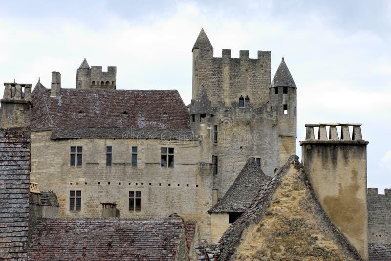 Kasteel van Beynac, Frankrijk stock foto's