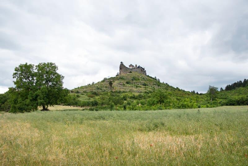 Kasteel van Boldogko op heuveltop, Hongarije royalty-vrije stock afbeeldingen