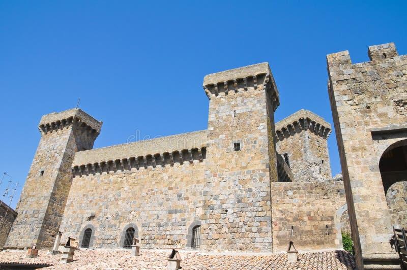 Kasteel van Bolsena. Lazio. Italië. stock afbeeldingen