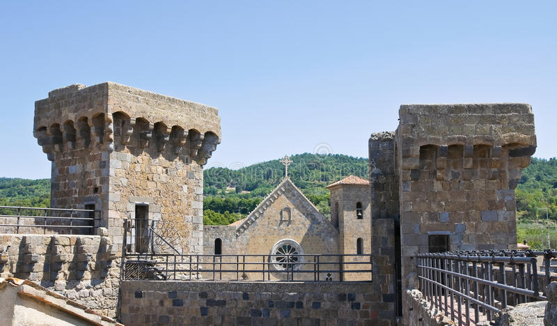 Kasteel van Bolsena. Lazio. Italië. royalty-vrije stock fotografie