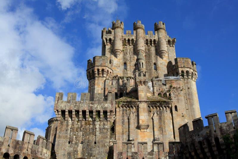 Kasteel van Butron, Spanje royalty-vrije stock fotografie