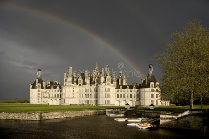 Kasteel van Chambord stock foto's