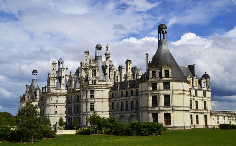Kasteel van Chambord in de de Loire-Vallei, Frankrijk stock afbeeldingen
