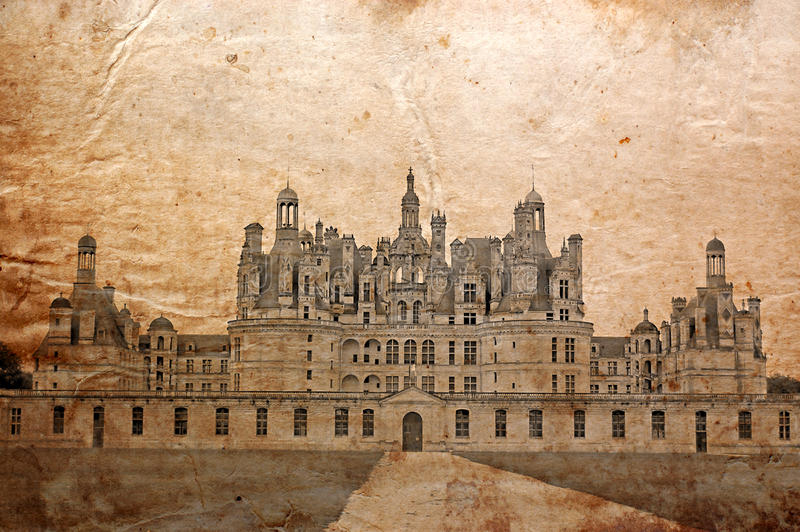 Kasteel van Chambord, Frankrijk royalty-vrije stock afbeelding
