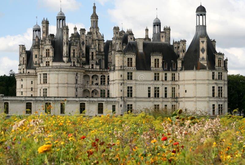 Kasteel van Chambord, Frankrijk stock fotografie