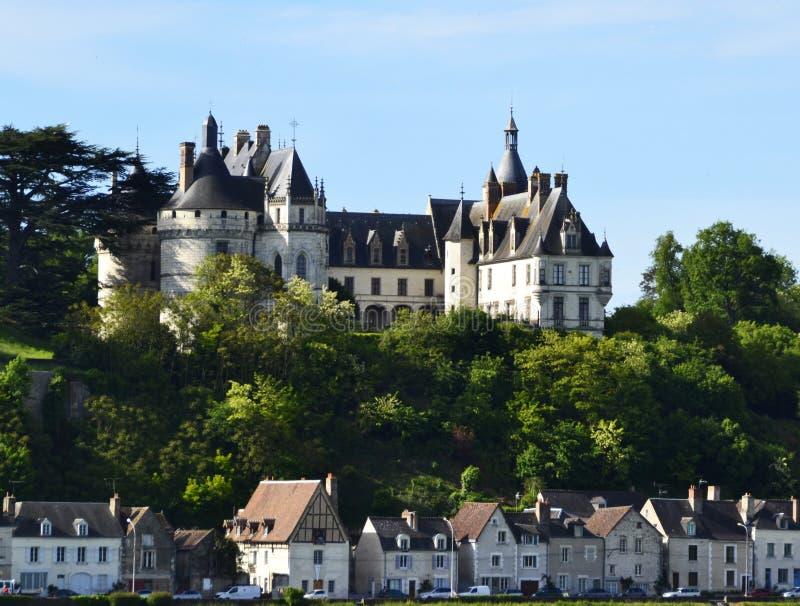 Kasteel van Chaumont in de de Loire-Vallei, Frankrijk stock foto's