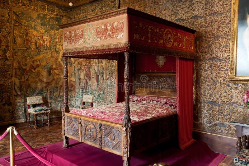 Kasteel van Chenonceau-binnenland. royalty-vrije stock afbeelding