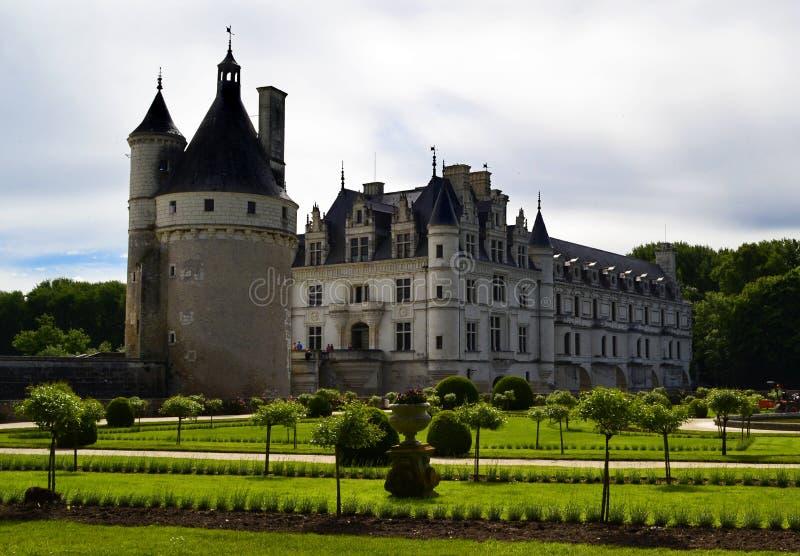 Kasteel van Chenonceau in de de Loire-Vallei, Frankrijk stock afbeeldingen