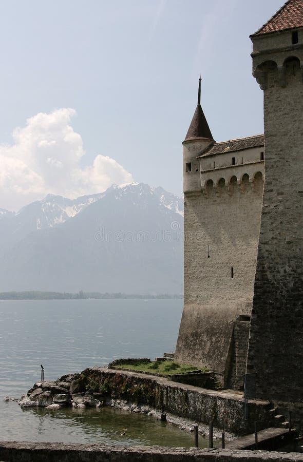 Kasteel van Chillon, Zwitserland stock fotografie