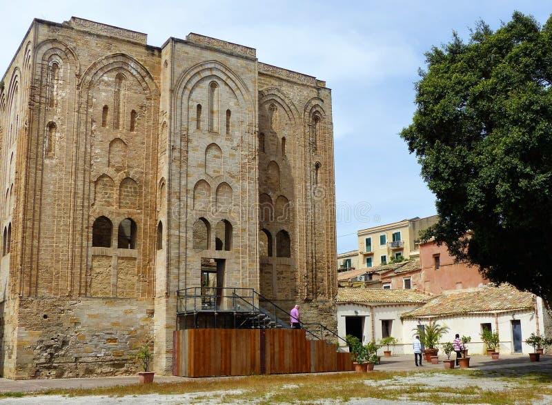 Kasteel van Cuba van de Normandische koningen van Sicilië Palermo sicilië stock afbeelding