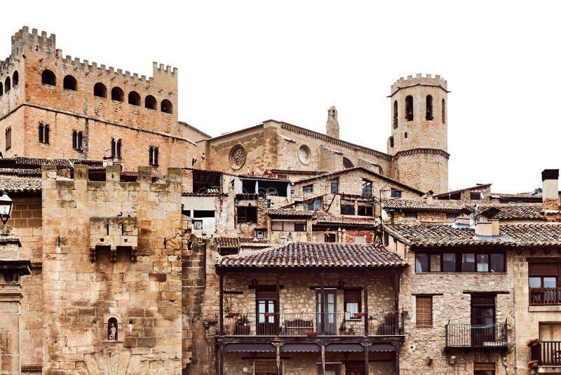 Kasteel van de 14de eeuw in Valderrobres stad royalty-vrije stock afbeeldingen