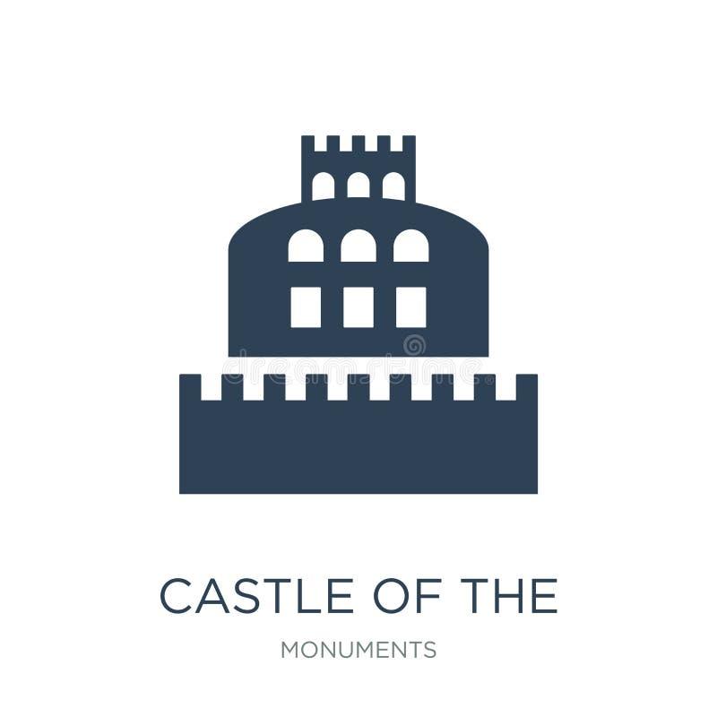 kasteel van de heilige engel in het pictogram van Rome in in ontwerpstijl kasteel van de heilige die engel in het pictogram van R royalty-vrije illustratie
