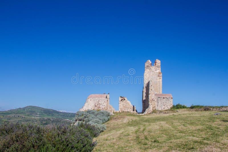 Kasteel van doria, chiaramonti, Sardische castel, Sassari stock foto's