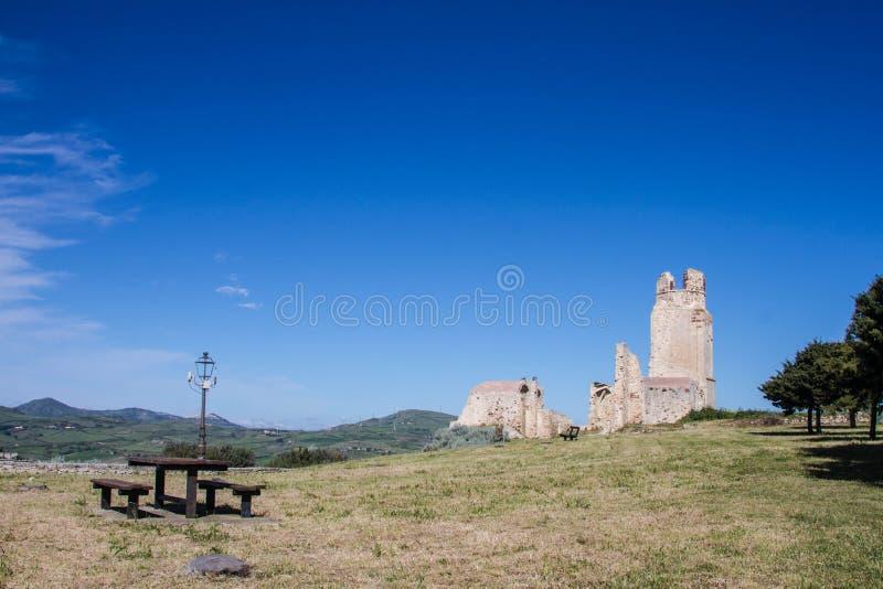 Kasteel van doria, chiaramonti, Sardische castel, Sassari royalty-vrije stock foto's