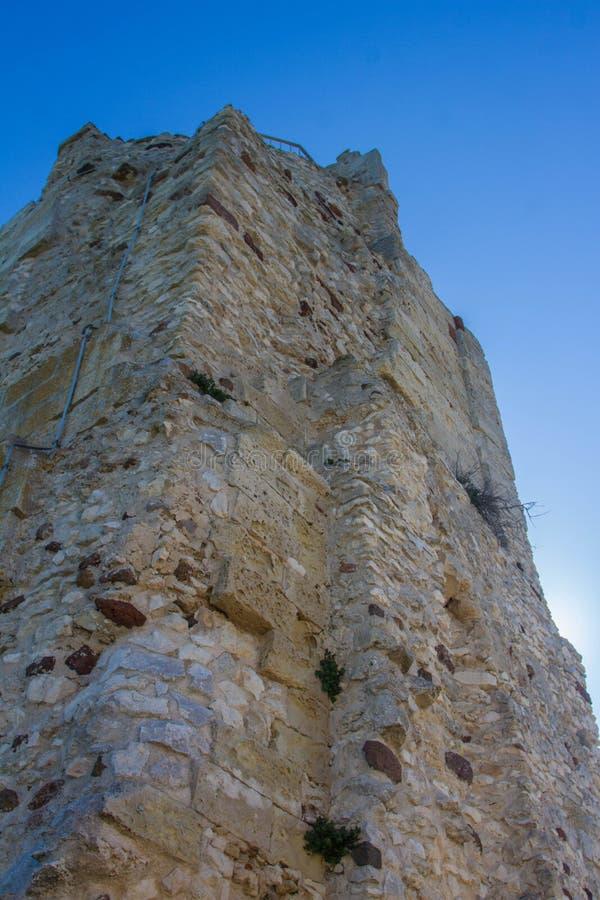 Kasteel van doria, chiaramonti, Sardische castel, Sassari royalty-vrije stock foto