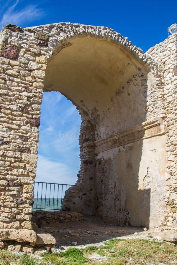 Kasteel van doria, chiaramonti, Sardische castel, Sassari stock foto