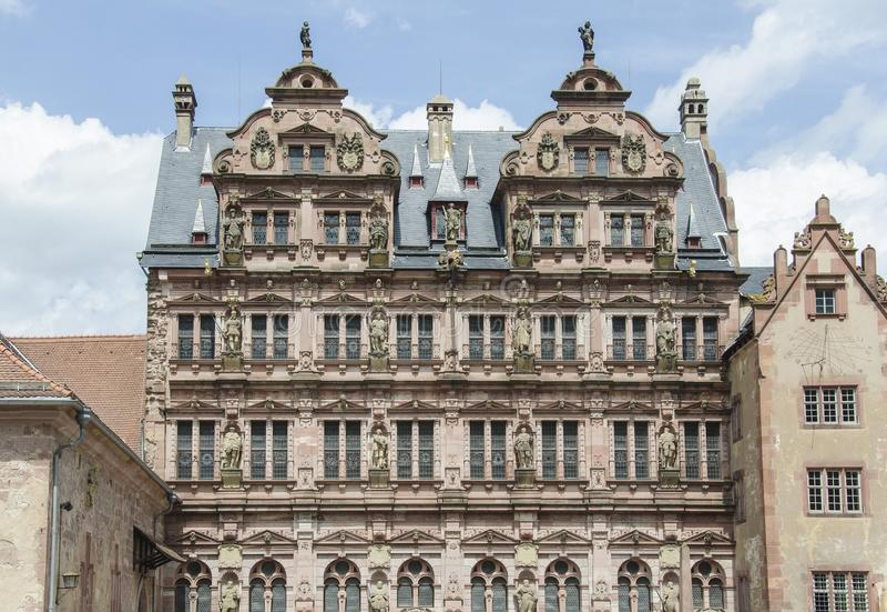Kasteel van Heidelberg (Heidelberger Schloss) stock fotografie