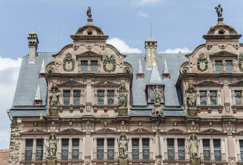 Kasteel van Heidelberg (Heidelberger Schloss) royalty-vrije stock fotografie