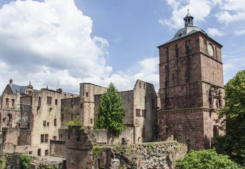 Kasteel van Heidelberg (Heidelberger Schloss) royalty-vrije stock foto's