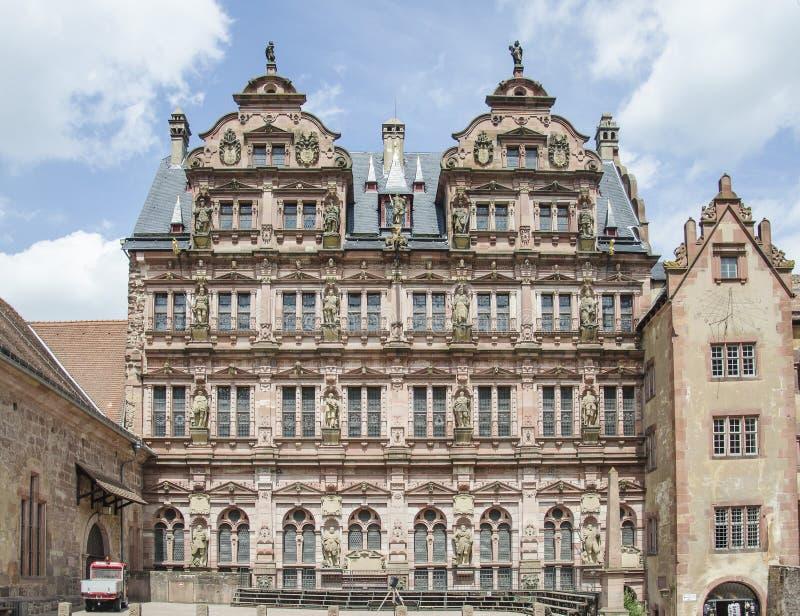 Kasteel van Heidelberg (Heidelberger Schloss) stock foto