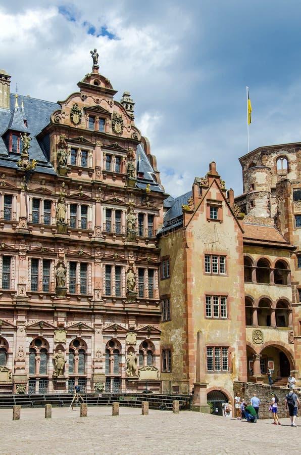 Kasteel van Heidelberg (Heidelberger Schloss) royalty-vrije stock afbeeldingen
