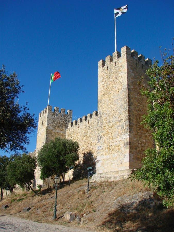 Kasteel van Heilige George in Lissabon royalty-vrije stock afbeelding