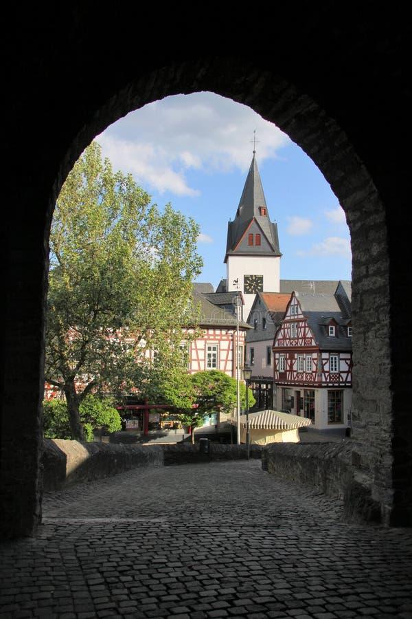 Kasteel van Idstein in Duitsland stock afbeeldingen