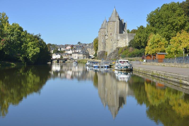 Kasteel van Josselin in Frankrijk stock foto