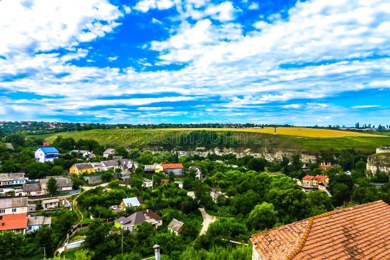 Kasteel 05 van Kamianetspodilskyi stock afbeelding