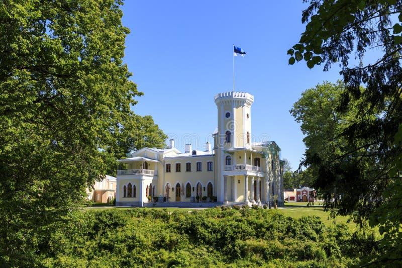 Kasteel van Keila Joa in Estland stock foto