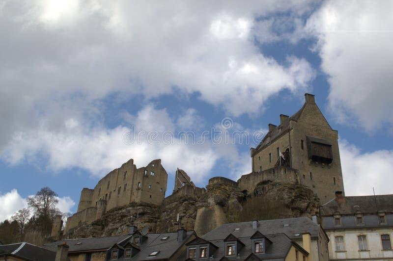 Kasteel van Larochette, Luxemburg stock foto