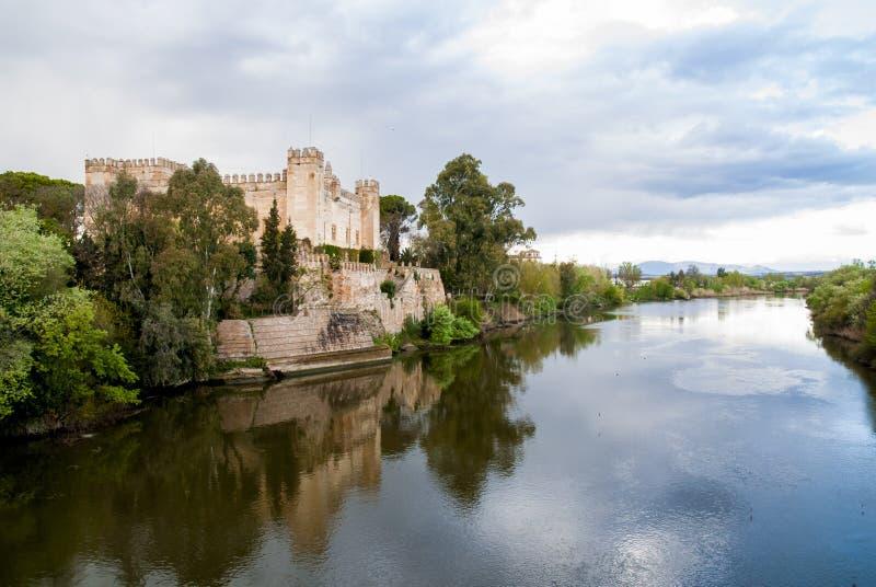 Kasteel van Malpica DE Taag Toledo, Spanje royalty-vrije stock fotografie