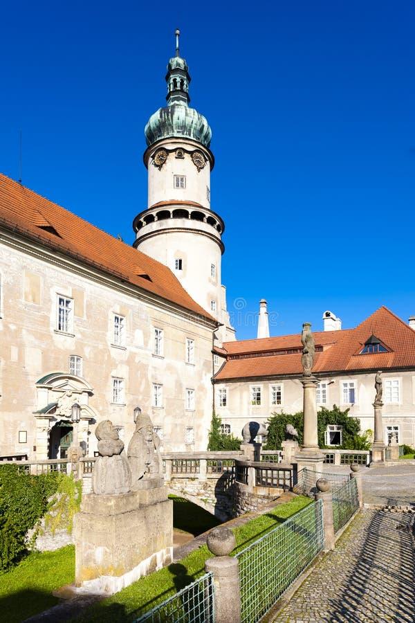 Kasteel van nad Metuji, Tsjechische Republiek van Nove Mesto stock afbeelding