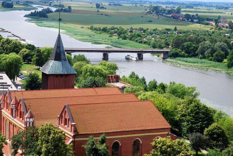 Kasteel van omgeving Malbork royalty-vrije stock fotografie