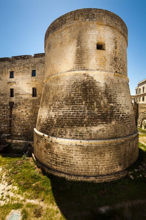 Kasteel van Otranto, de vesting van Italië in het gebied van Puglia royalty-vrije stock foto's