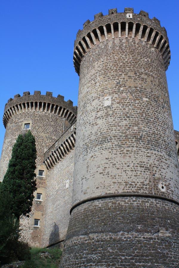 Kasteel van Rocca Pia in Tivoli (Rome, Italië) royalty-vrije stock afbeelding