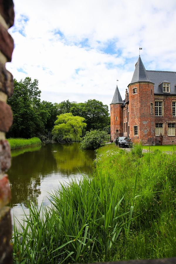 Kasteel van Rumbeke. Castle, landscape stock image