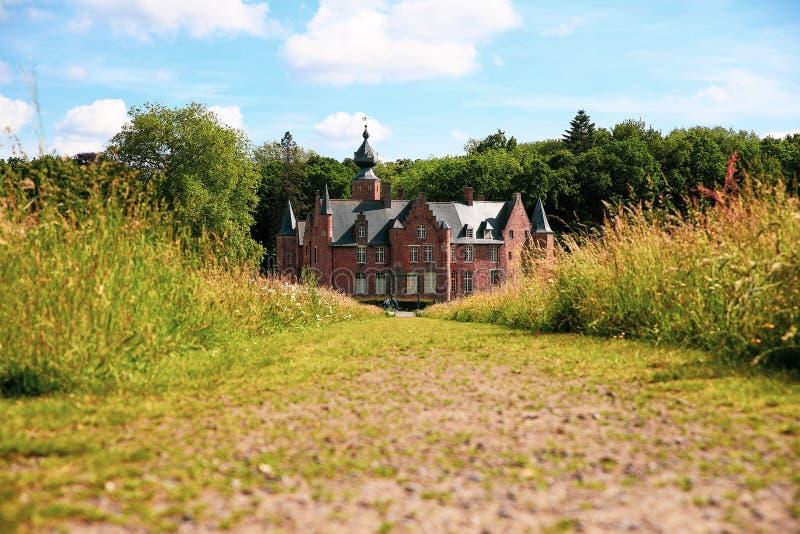 Kasteel van Rumbeke. Castle, landscape,architecture,outdoor,sky,summer,mood, landscapearchitectureoutdoorskysummermood stock photos