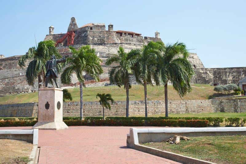 Kasteel van San Felipe De Barajas stock fotografie