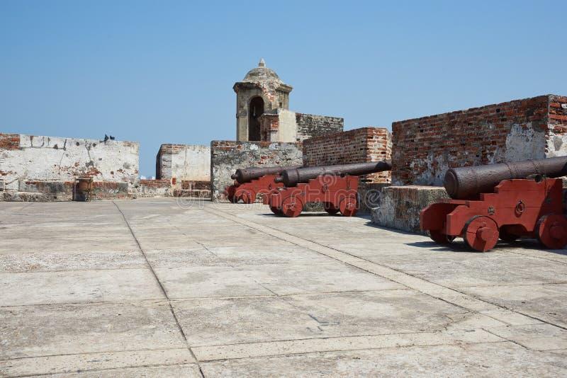 Kasteel van San Felipe De Barajas royalty-vrije stock foto's