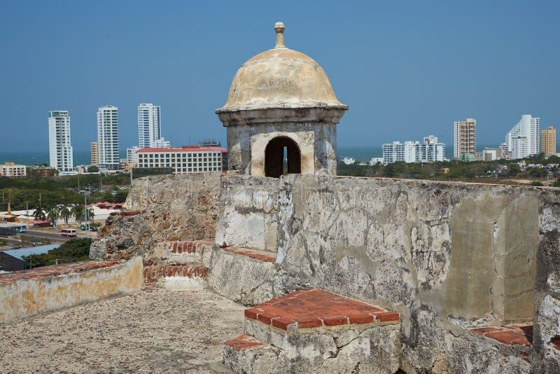 Kasteel van San Felipe De Barajas stock afbeelding