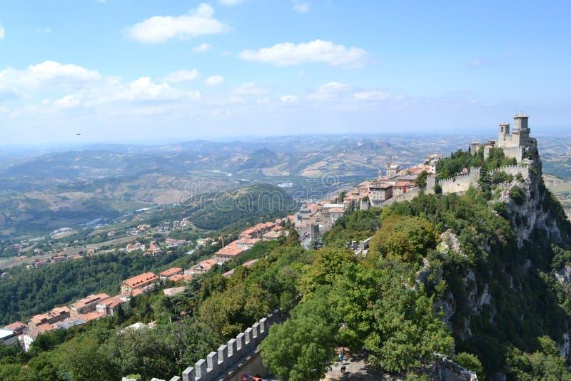 Kasteel van San Marino royalty-vrije stock fotografie