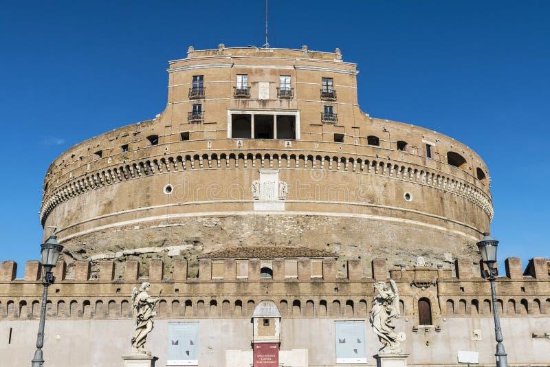 Kasteel van Sant Angelo in Rome, Italië royalty-vrije stock foto's