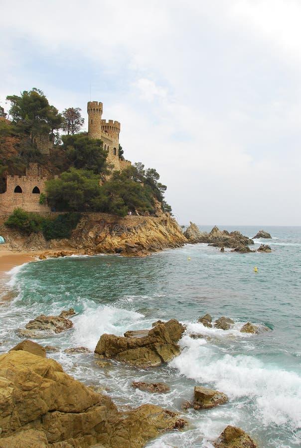 Kasteel van Sant Joan in Lloret de Mar spanje stock fotografie