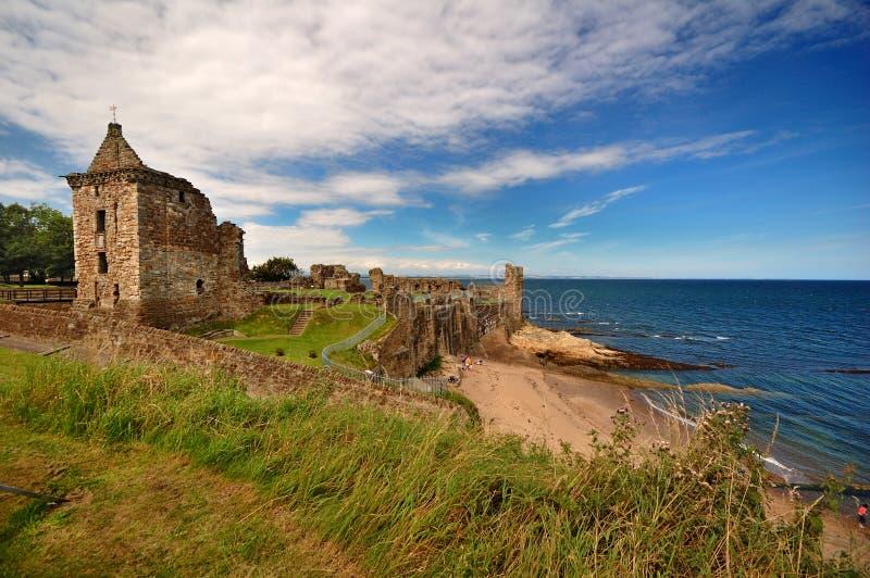 Kasteel van St. Andrews, Schotland royalty-vrije stock afbeeldingen