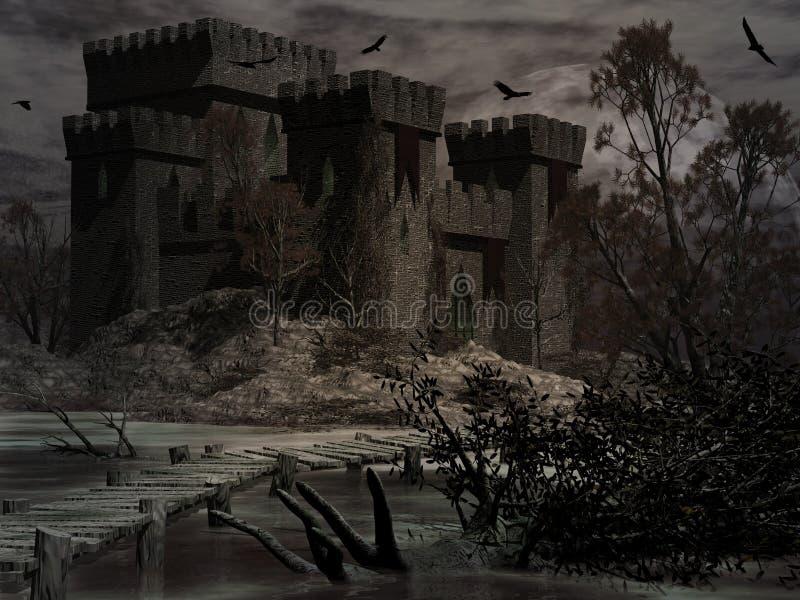 Kasteel van Vervloekt royalty-vrije illustratie