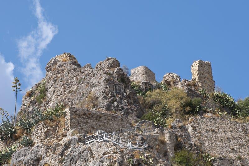 Kasteel van Zahara DE La Sierra stock afbeelding