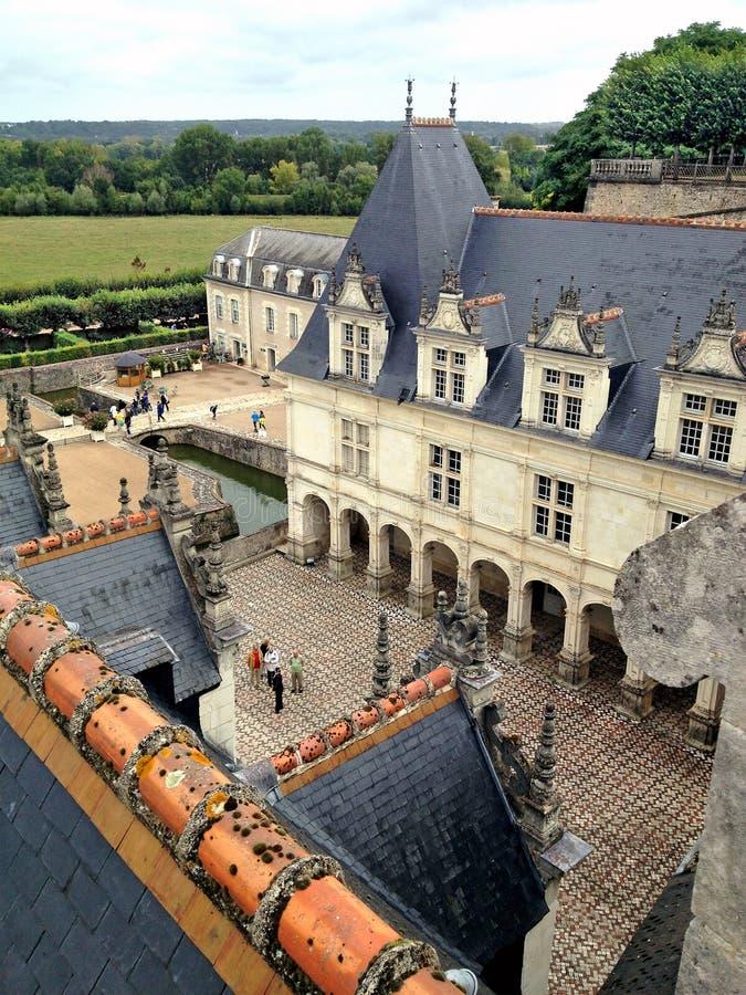Kasteel Villandry in de de Loire-Vallei, Frankrijk stock foto's
