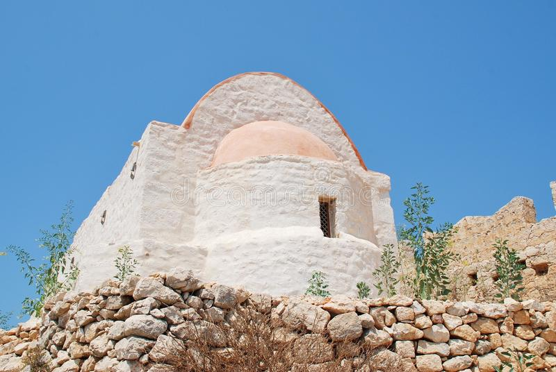 Kasteelkapel, Halki royalty-vrije stock afbeelding